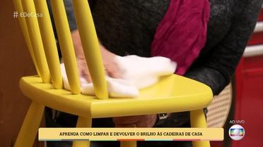 Aprenda como limpar e devolver o brilho às cadeiras de casa