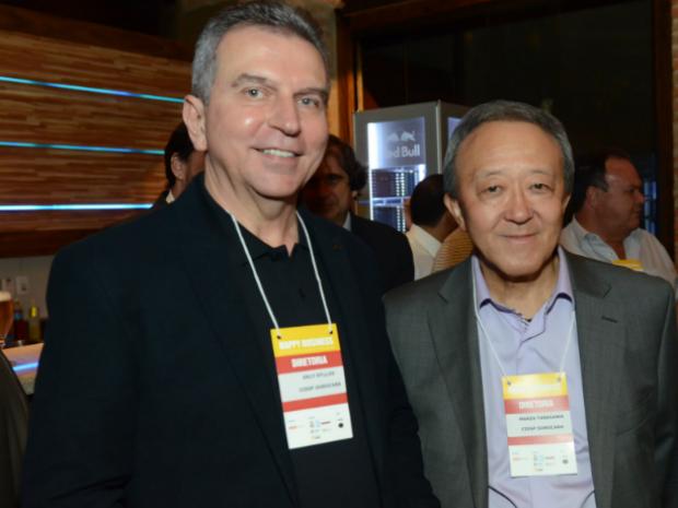 Erly Domingues de Syllos e Mario Tanigawa, diretor e vice-diretor do CIESP Sorocaba (Foto: Divulgação)