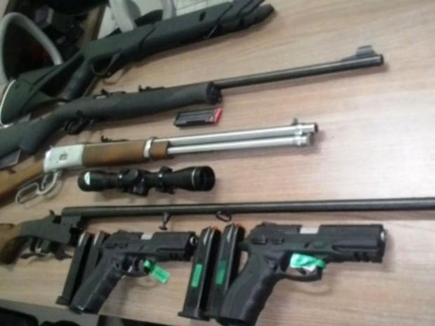 Foram apreendidas 20 armas de fogo (Foto: Divulgação SSPDS)