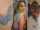 Luma Costa leva tattoo de personagem para casa: 'Me sinto rock'n'roll'