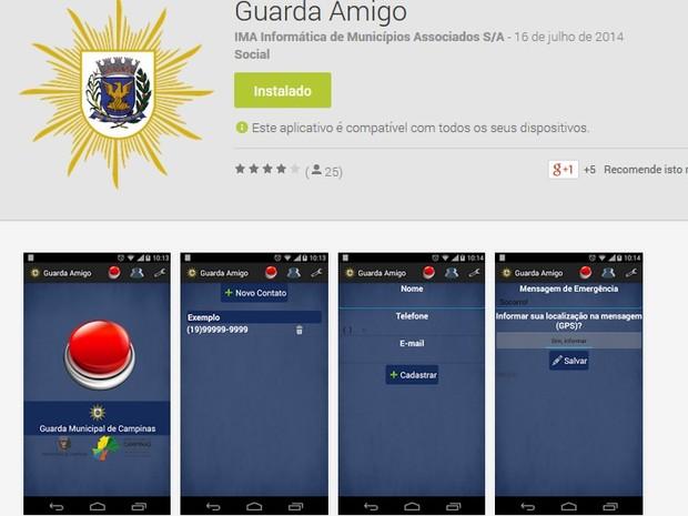 Aplicativo deve facilitar denúncias de moradores de Campinas (Foto: Reprodução/Google Play)