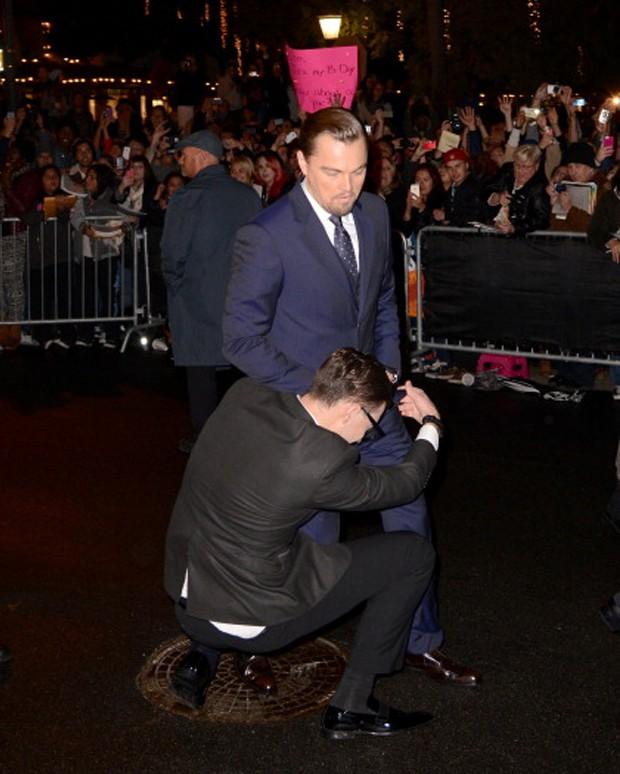 Vitalii incomoda Leonardo DiCaprio (Foto: Reprodução)