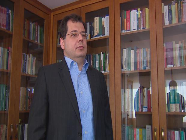 Filho de Teori, Francisco Zavascki, fala sobre a morte do pai (Foto: Reprodução/RBS TV)
