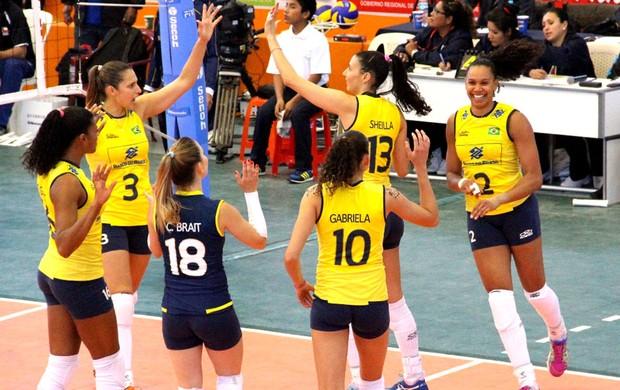 Vôlei Brasil e Chile Sul-Americano (Foto: Estephanie Jaime Valle)