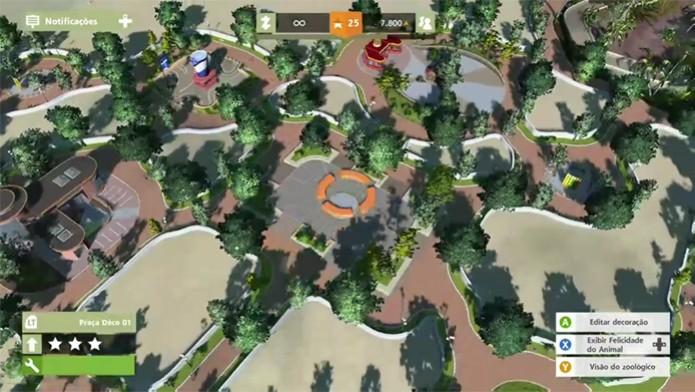 Modo de criador ajuda a visualizar o zoológico em Zoo Tycoon (Foto: Reprodução/ Matheus Vasconcellos)