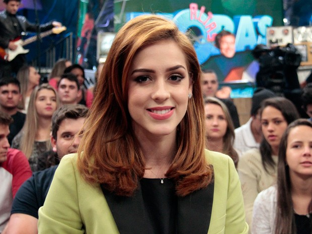 Sophia Abrahão participa da gravação do programa Altas Horas (Foto: Marcos Mazini/Gshow)