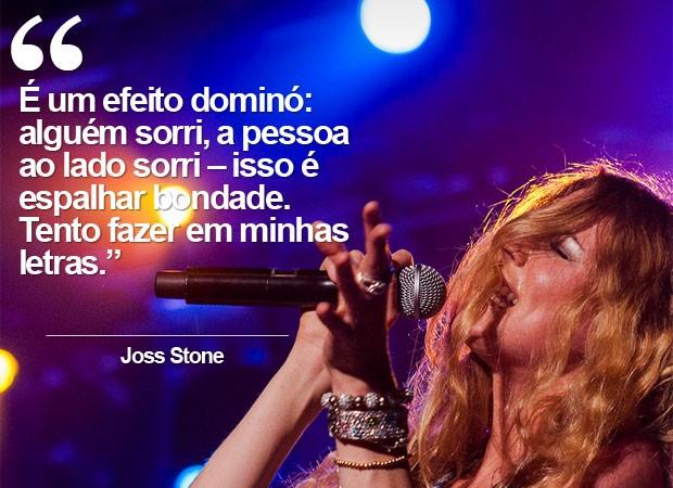 Joss Stone fala sobre 'espalhar bondade' (Foto: Divulgação)