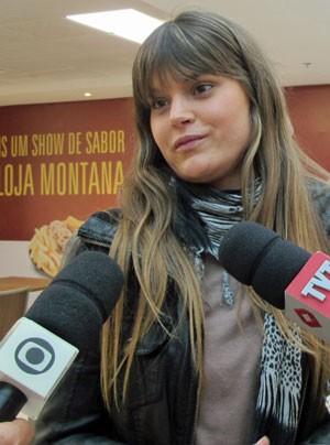 Natalia Alloco veio da Argentina (Foto: Luna D'alama/G1)