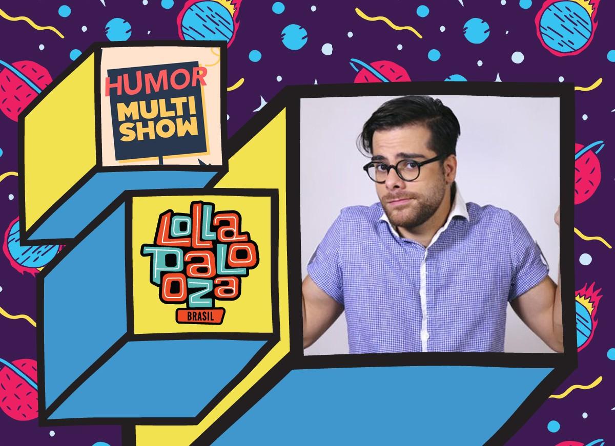 Pedro HMC, do canal Pe Na Roda, comenta os shows de um jeito bem humorado na live Zoeira, no canal Humor Multishow (Foto: Multishow)