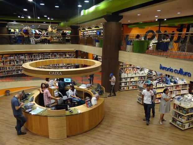 Segunda loja da Livraria Cultura fica no Shopping RioMar (Foto: Luna Markman/G1)