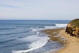 """Bells Beach ter� ondas no 1� dia do CT, mas """"swell"""" perder� for�a em seguida"""