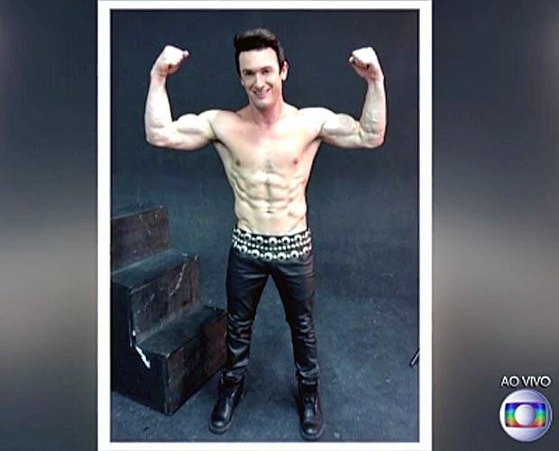O atleta mostra seu físico nas redes sociais (Foto: TV Globo)