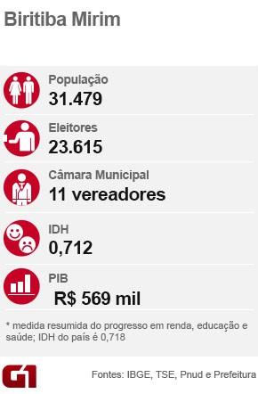 Ficha eleição Biritiba Mirim (Foto: Arte/G1)