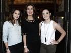 Fátima Bernardes vai com as filhas ao show de Tiago Iorc no Rio