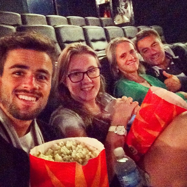 Rafael Licks no cinema (Foto: Reprodução / Instagram)