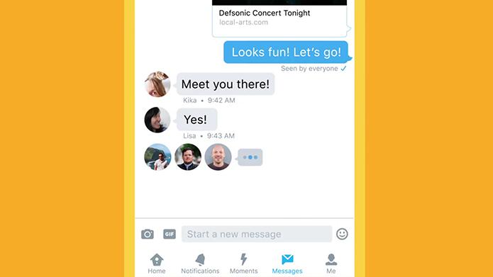 Twitter remodela DMs, que passam a se comportar como chats de mensageiros rivais como WhatsApp e Messenger (Foto: Divulgação/Twitter)