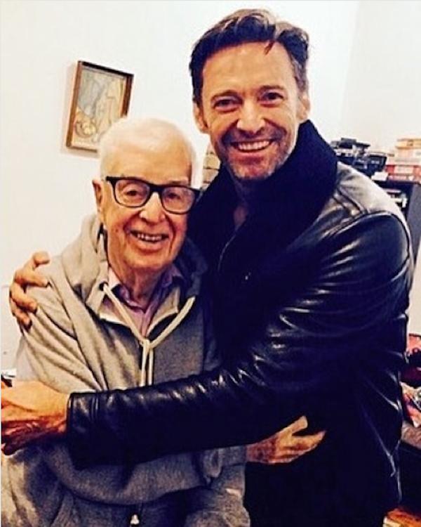 O ator Hugh Jackman com seu professor de atuação (Foto: Instagram)