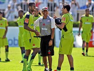 Dedé Diego Souza cristovão borges vasco treino (Foto: Maurício Val / Fotocom.net)