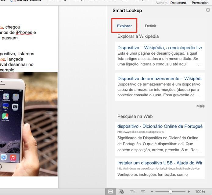 Veja resultado da Wikipedia e do Bing (foto: Reprodução/André Sugai)