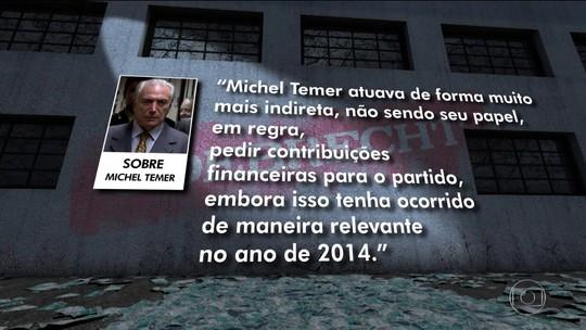 Delação de Cláudio Melo Filho tem capítulo dedicado a Michel Temer