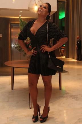 Adriana Bombom em festa em hotel na Barra da Tijuca, Zona Oeste do Rio (Foto: Wallace Barbosa/ Ag. News)