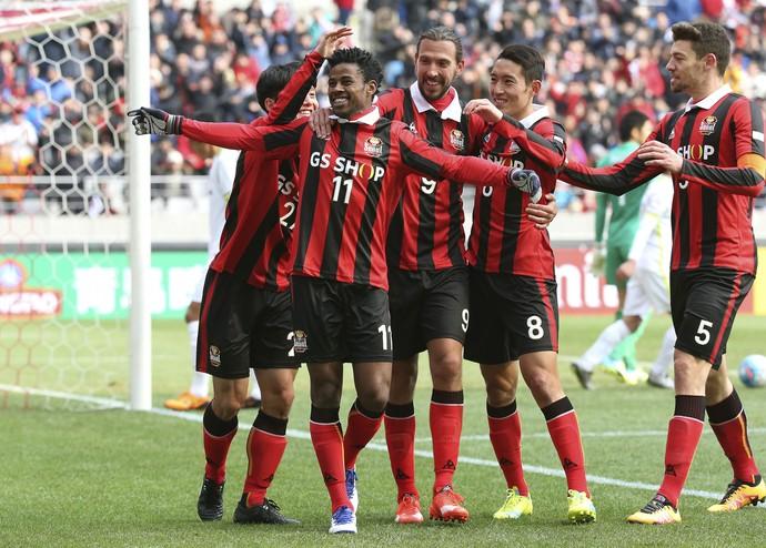 Adriano Michael Jackson, FC Seoul x Sanfrecce Hiroshima (Foto: Lee Sang-hack / Yonhap via AP)