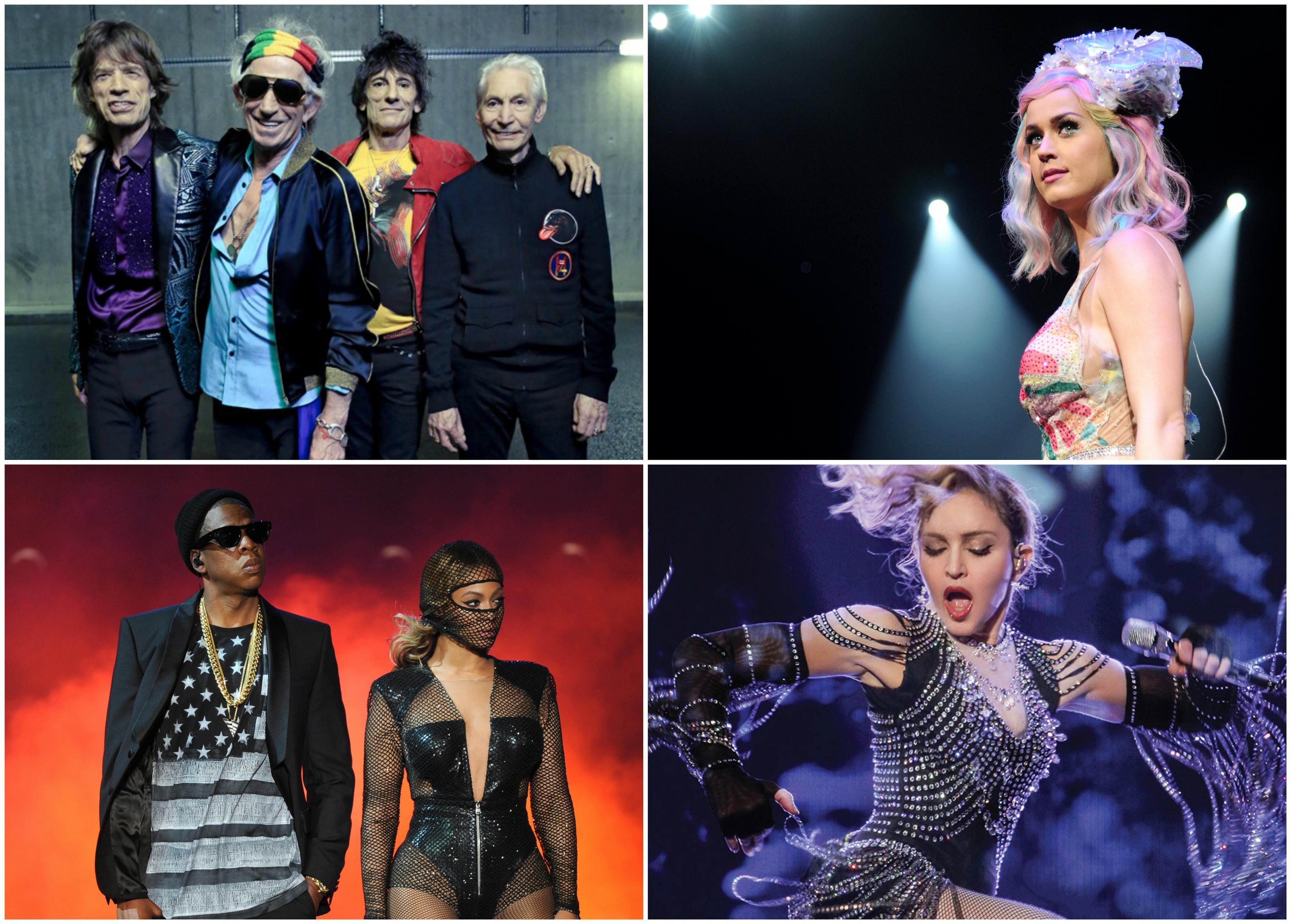 Rolling Stones, Katy Perry, Beyonc, Jay-Z e Madonna comandam a ltima noite do ano no Bis (Foto: Divulgao)