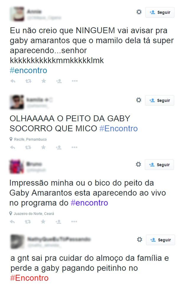 Twitter sobre Gaby Amarantos no programa da fátima (Foto: Reprodução / Twitter)
