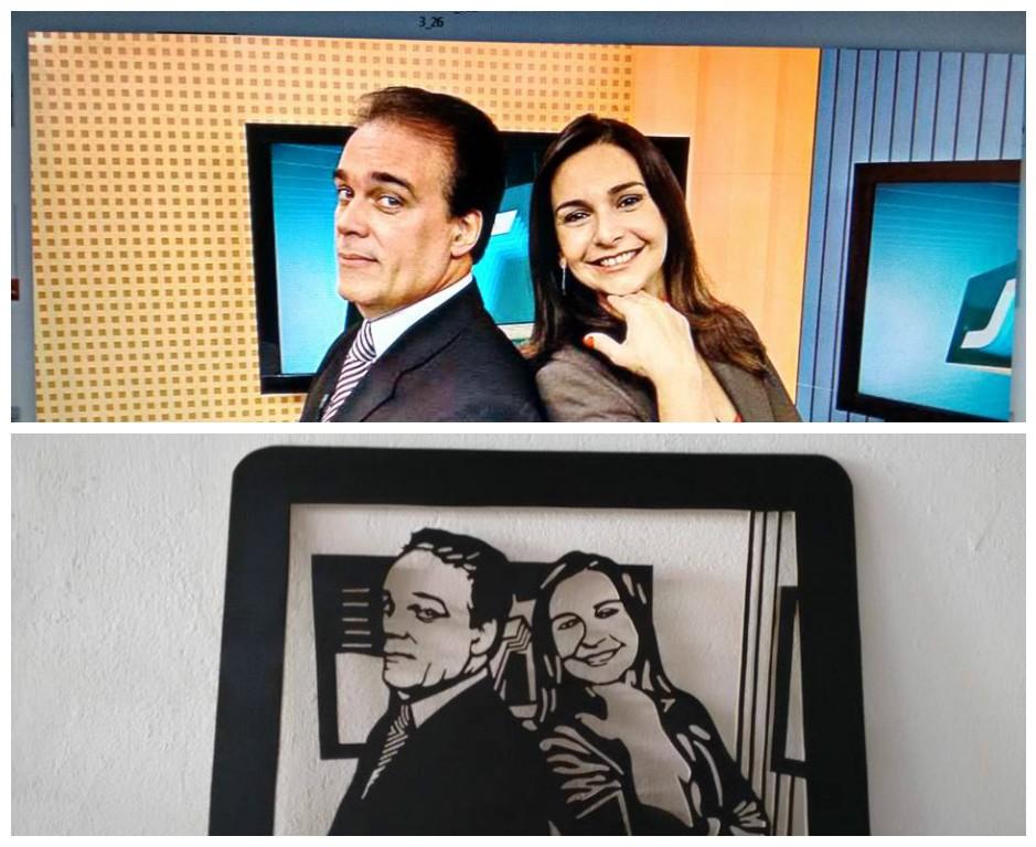 Tony Lamers e Vanessa Machado representados por Anderson Camargo (Foto: Arquivo Pessoal)