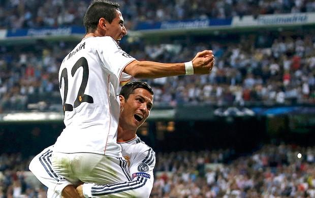 Di Maria e Cristiano Ronaldo Real Madrid e Benfica (Foto: Agência Reuters)
