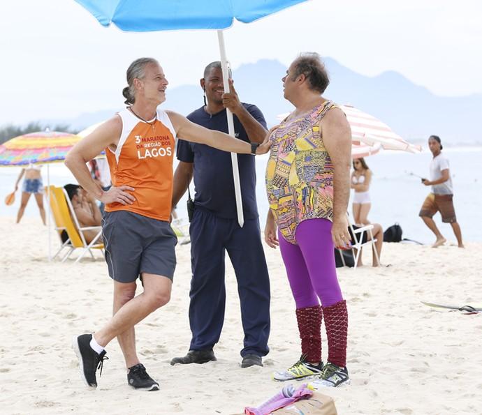Com Marcello Novaes e Otávio Müller não faltaram boas risadas (Foto: Ellen Soares/ Gshow)
