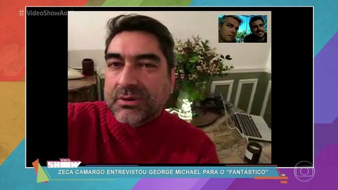 Zeca Camargo lamentou a perda de George Michael: 'Excelente compositor e boa gente' (Foto: Rede Globo)