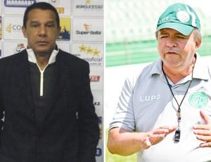 Mauro Fernandes e Vadão, técnicos de Barueri e Guarani (Foto: Editoria de Arte / Globoesporte.com)