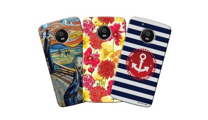Capas personalizadas com desenhos para Moto G5 (Foto: Divulgação/Matecki)