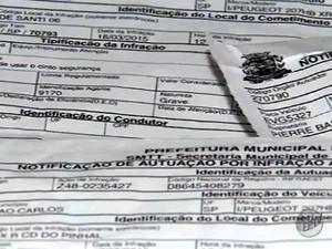 Falsos boletos são enviados pelo correio (Foto: Felipe Lazzarotto/EPTV)
