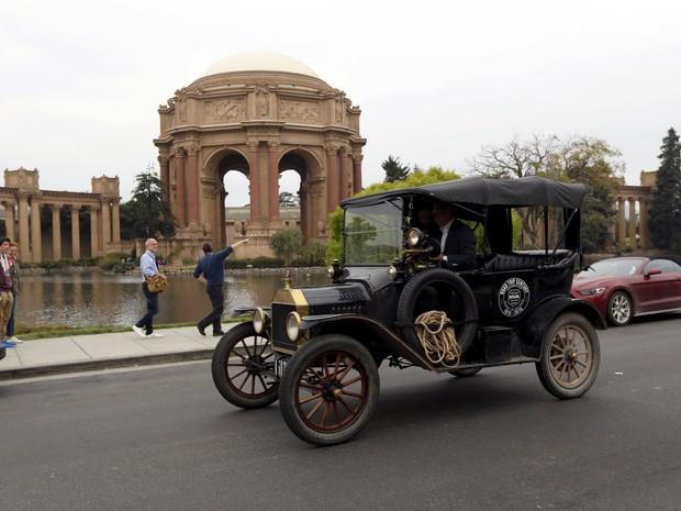 Ford T, de 1915, faz viagem de Detroit a São Francisco (Foto: REUTERS/Robert Galbraith)