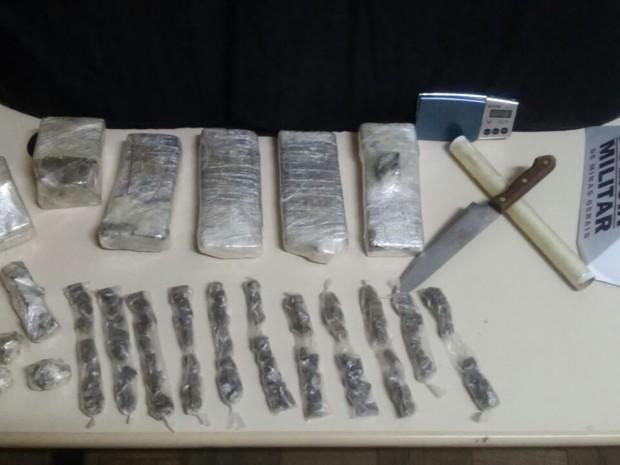 Droga encontrada é considerada a maior apreensão realizada em 2016 na cidade (Foto: Polícia Militar/Divulgação)