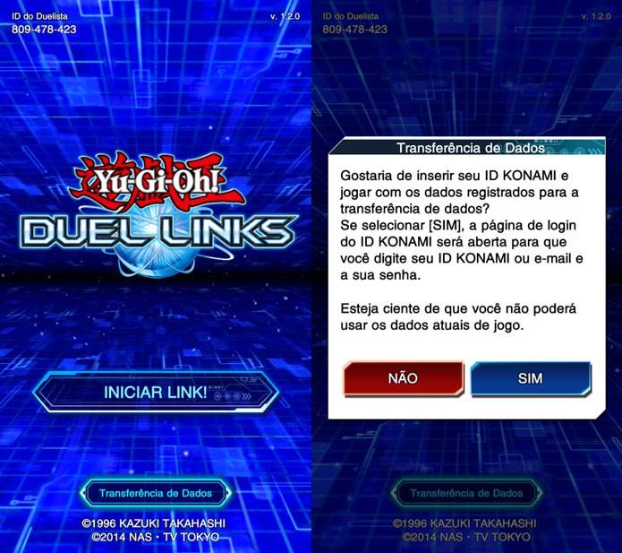 Coloque o seu ID Konami no novo dispositivo para recuperar sua conta (Foto: Reprodução/Tais Carvalho)
