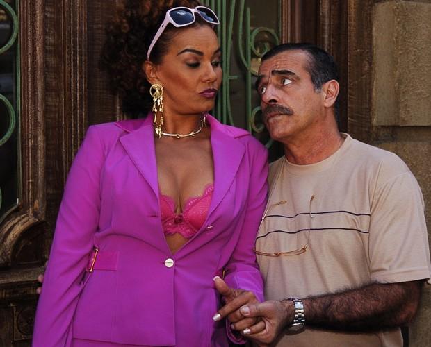 Solange Couto, como Dalva, na novela América (Foto: Renato Rocha Miranda/TV Globo)
