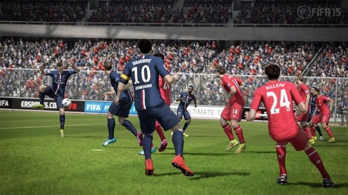 Fifa 15 no Xbox 360 e PS3 (Foto: Divulgação)