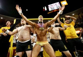"""Michael Phelps participa de """"Cortina da Distração"""" do Sun Dev (Foto: AP)"""