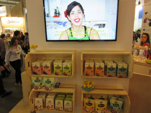 Mãe Terra lançou linha de produtos naturais em parceria com a apresentadora Bela Gil (Foto: Karina Trevizan/G1)