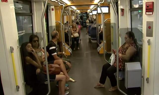 VLT (Veículo Leve Sobre Trilhos) (Foto: Reprodução/TV Tribuna)