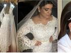 Vestido de noiva de Preta Gil tem 50 mil pérolas e renda chantilly francesa