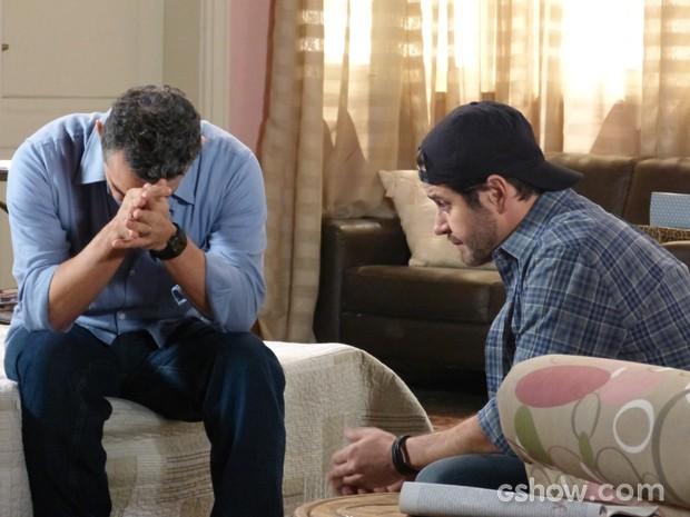 Pedro fica decepcionado com filho (Foto: Geração Brasil/TV Globo)