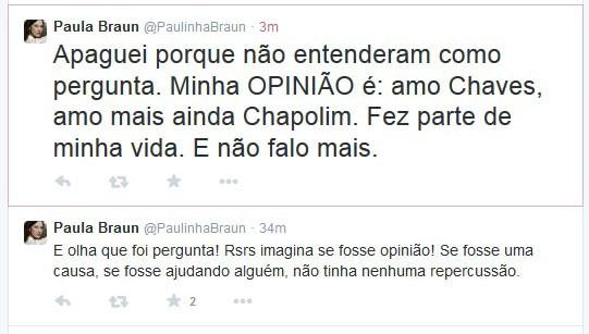 Paula Braun (Foto: Twitter / Reprodução)