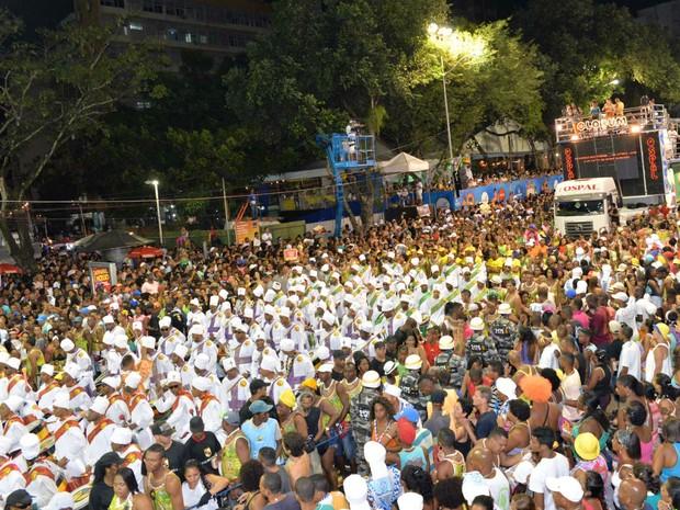 Olodum no Campo Grande (Foto: Elias Dantas/Ag. Haack)