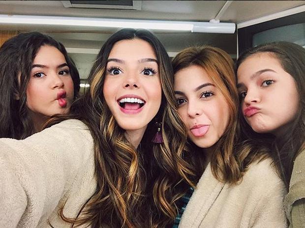 Maisa, Giovanna, Klara Castanho e Mel Maia (Foto: Reprodução/Instagram)