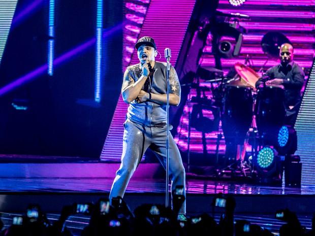 Naldo faz show em São Paulo no Credicard Hall para gravar DVD. (Foto: Raul Zito/G1)