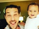 Igor Rickli posta foto fofa com o filho